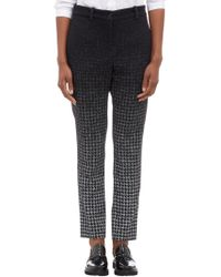 Public School - Black Disappearing Houndstooth Double-Knit Pants - Lyst