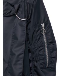 3.1 Phillip Lim - Black Chest Strap Flight Parka - Lyst