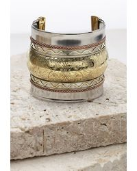Forever 21 - Metallic Oversized Etched Cuff - Lyst