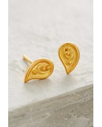 Anthropologie - Metallic Gilded Paisley Drops - Lyst