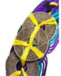 DANNIJO - Multicolor Tulum Coin Embellished Cuff Bracelet - Lyst