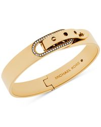 Michael Kors | Metallic Crystal Buckle Bangle Bracelet | Lyst