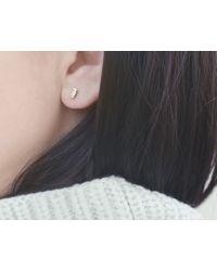 Vrai & Oro | White Baguette Diamond Earrings | Lyst