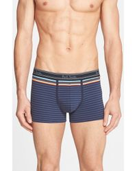 Paul Smith - Blue Stretch Cotton Trunks for Men - Lyst