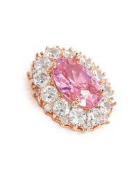 CZ by Kenneth Jay Lane | Pink Oval Cubic Zirconia Pavé Earrings | Lyst