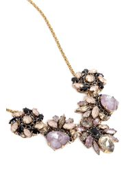 Erickson Beamon - Purple 'fortune Hunter' Crystal Cluster Flower Necklace - Lyst