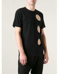 Comme des Garçons - Black Cut Out Detail T-Shirt for Men - Lyst