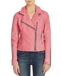 Blank | Pink Moto Jacket | Lyst