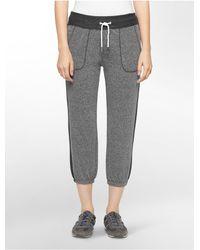 733007861f9d Calvin Klein. Women s Gray Performance Tux Stripe Banded Ankle Crop Pants