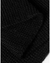 ASOS | Knitted Scarf In Black for Men | Lyst