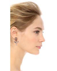 Miguel Ases - Teardrop Earrings Blue Multi - Lyst