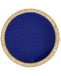 Jennifer Meyer - Blue Inlaid Round Ring - Lyst