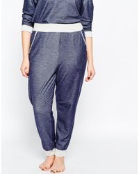 ASOS | Blue Curve Lounge Pant With Contrast | Lyst