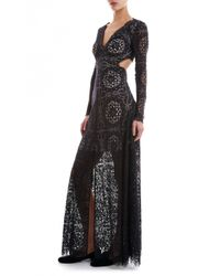 Temperley London | Black Long Nomi Backless Dress | Lyst