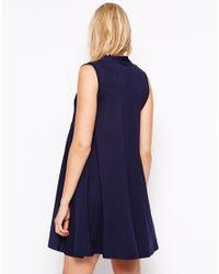 ASOS - Blue Pussybow Swing Dress - Lyst