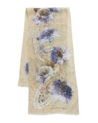 Lauren by Ralph Lauren   Natural Patterned Silk Scarf   Lyst