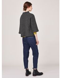 Toast - Gray Boiled Wool Top - Lyst