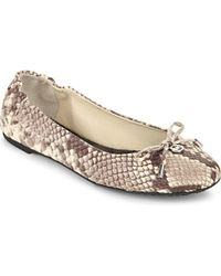 MICHAEL Michael Kors - Multicolor Melody Reptile-print Leather Ballet Flats - Lyst