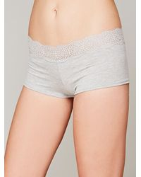 Free People | Gray Medallion Boyshort | Lyst