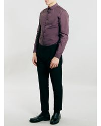 TOPMAN - Black Cropped Skinny Fit Smart Trousers for Men - Lyst