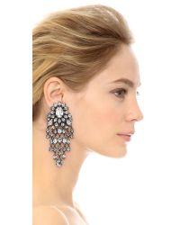Erickson Beamon - Metallic Fringe Element Earrings - Clear - Lyst