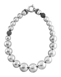 Lagos - Metallic Bold Caviar Wow Necklace - Lyst