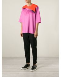 Christopher Kane - Pink Pages Print T-shirt for Men - Lyst