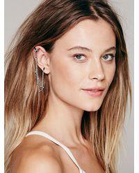 Free People - Metallic Womens Cuff To Post Earring - Lyst