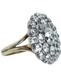 Olivia Collings - Metallic Old Cut Diamond Button Ring - Lyst