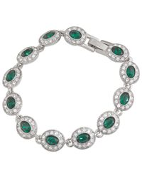 Carolee | Green Oval Crystal And Glass Stone Bracelet | Lyst