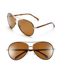 Lilly Pulitzer - Metallic 'parrish' 63mm Polarized Sunglasses - Lyst