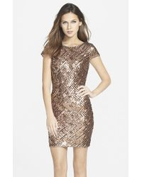 Dress the Population | Metallic 'tabitha' Sequin Minidress | Lyst