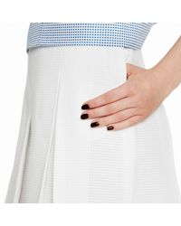 Trademark | White Four-pleat Skirt | Lyst