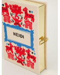 Olympia Le-Tan - Natural 'Heidi' Book Clutch - Lyst