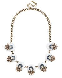 BaubleBar | Metallic Sundrop Bib Necklace, 17"