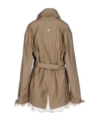 Twin Set - Natural Full-length Jacket - Lyst