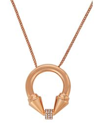 Vita Fede | Metallic Titan Cubo Rose Gold-plated Necklace | Lyst