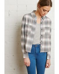 Forever 21 | Gray Boxy Check Shirt | Lyst