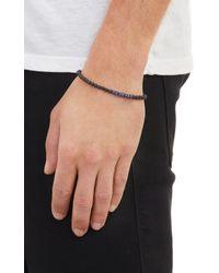 Caputo & Co. - Blue Sapphire  Onyx Bead Bracelet for Men - Lyst