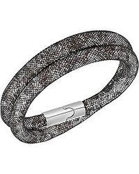 Swarovski | Black Stardust Double Bracelet Medium 40cm | Lyst