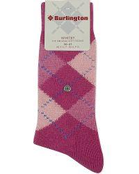 Smythson | Pink Whitby Argyle Socks | Lyst