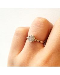 Melissa Joy Manning | Metallic Full Cut Gray Diamond Ring | Lyst