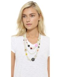 Venessa Arizaga | White Snack Attack Imitation Pearl Necklace - Pearl Multi | Lyst
