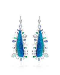 Nina Runsdorf - Blue Opal and Multistone Accent Earrings - Lyst