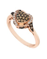 Le Vian | Pink 14kt Rose Gold And Diamond Heart Ring | Lyst