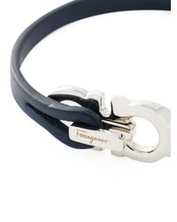 Ferragamo | Blue Gancini Bracelet for Men | Lyst