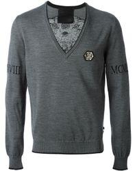 Philipp Plein | Gray The Head Sweater for Men | Lyst