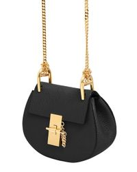 Chloé - Black Nano Drew Grained Nappa Leather Bag - Lyst