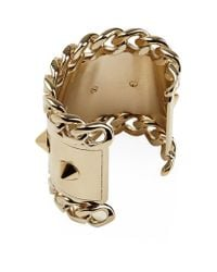 Givenchy - Metallic Stud And Chain Cuff - Lyst