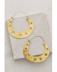 Wendy Mink | Metallic Diamond Punched Hoops | Lyst